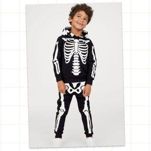 H&M Skeleton Sweatshirt and Joggers Set